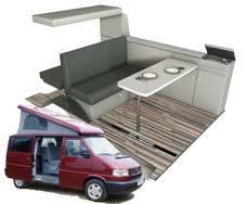 Vybavenie pre VW T4 - krátky rázvor
