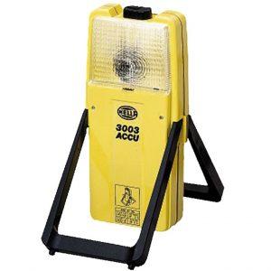 HELLA Bezpečnostné výstražné blikajúce svetlo model 3003, žlté s batériou