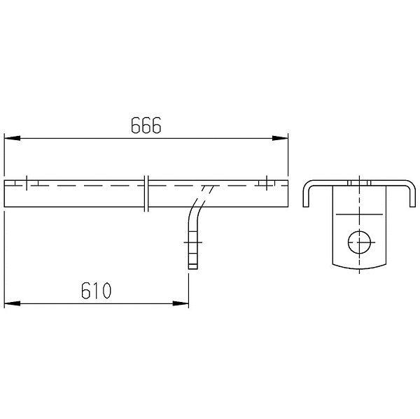 AL-KO montážna koľajnica
