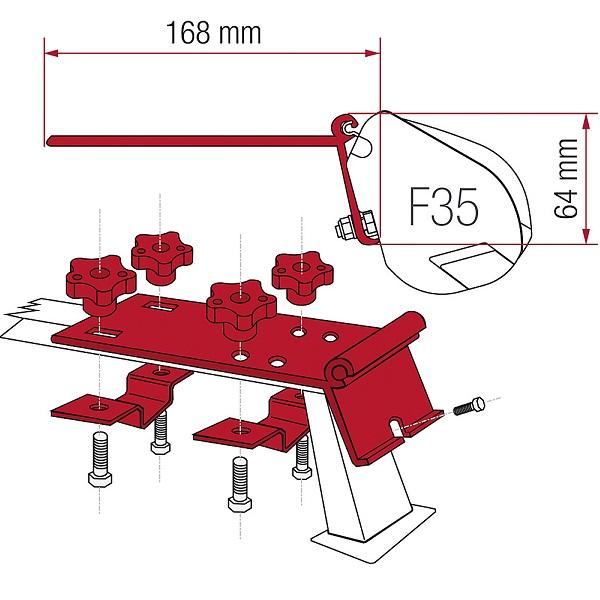 Adaptér Fiamma pre F35 na strešný nosič