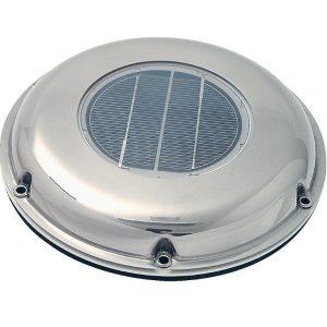 Solárny ventilátor pochrómovaný extra plochý 9985761