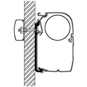 Plochý adaptér pre markízu Thule série 5/8  9903793+