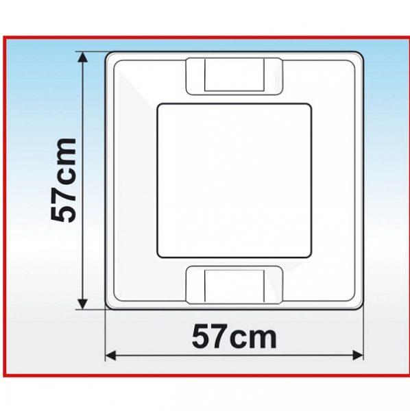 Strešný kryt Fiamma 50 x 50 cm s roletou