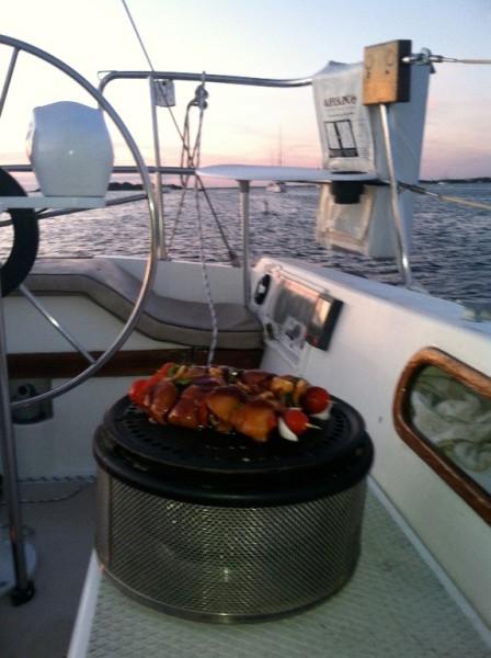 Grilovanie na lodi