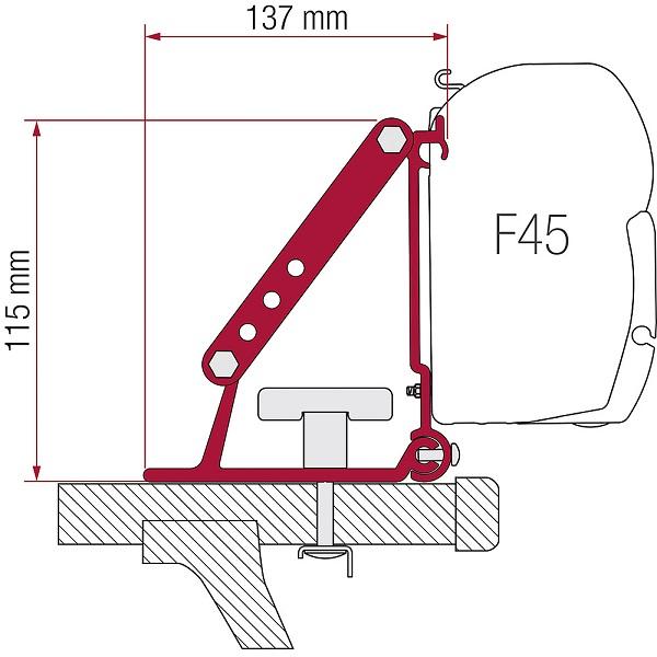 Adaptér Fiamma na markízu F1 / F45 / F35 / F50 / F55 pre strešný nosič