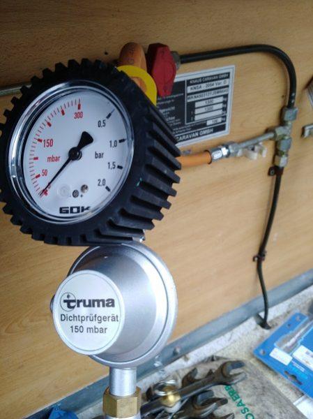 kontrola plynu v karavanoch