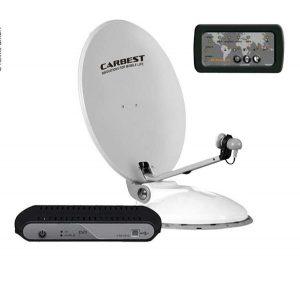 Automatický satelitný systém CARBEST Travelsat 68 Twin s LED panelom, satelity pre kemping, autokaravany, karavany