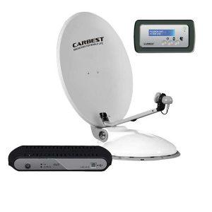 Automatický satelitný systém CARBEST Travelsat 80 Twin s plus panelom, satelitny system pre autokaravany, karavany