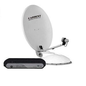 Automatický satelitný systém CARBEST Travelsat 80 ASTRA, vrátane ovládacej skrinky, satelitny system pre autokaravany, karavany