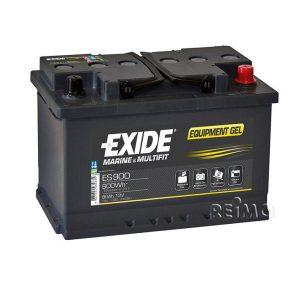 Gélová batéria EXIDE 12 V 80 Ah, batéria na solárne panely, batéria do karavanu
