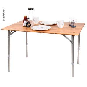 Kempingový stôl z bambusu z kolekcie Holiday Travel od Camp4