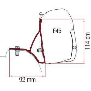 Adaptér pre markízu Fiamma F45 pre Renault Trafic, Vivaro od roku 2015 433133