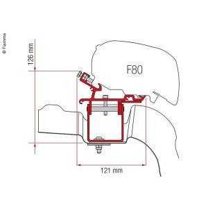 Adaptér pre markízu Fiamma F65/F80 pre VW Crafter od roku 2017