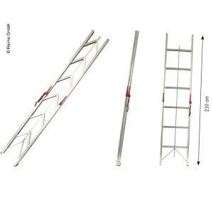 Skladací rebrík s nosnosťou až 150 kg, skladací rebrík do karavanu