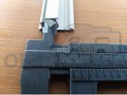 Kederová hliníková lišta so skrutkovým kanálom,