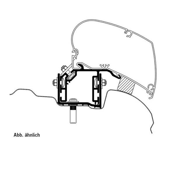 Adaptér pre markízu Thule Omnistor, adapter na markizu pre VW crafter 6300