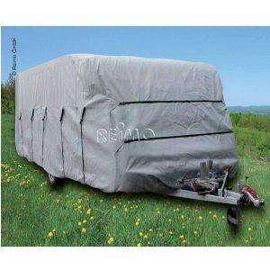Ochranný kryt karavanu, sivý, ochranna plachta pre karavan, ochranna plachta na zazimovanie karavanu
