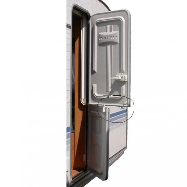 Držiak na delené dvere karavanu