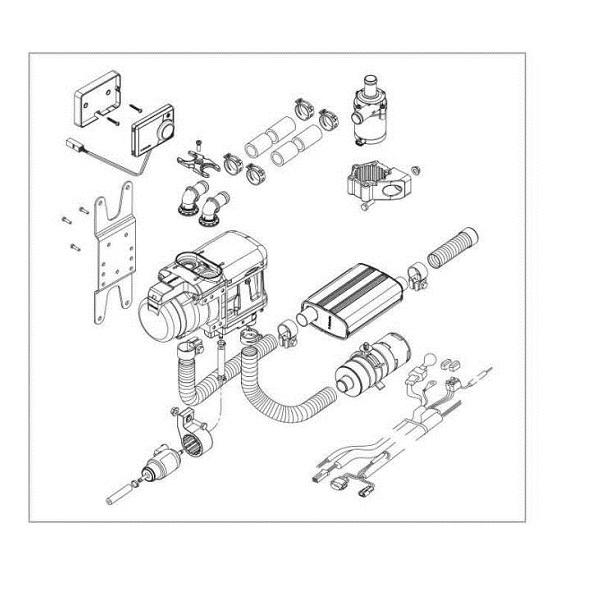 Montážna súprava nezávislé kúrenie Webasto Top EVO Motorcarvan pre karavany