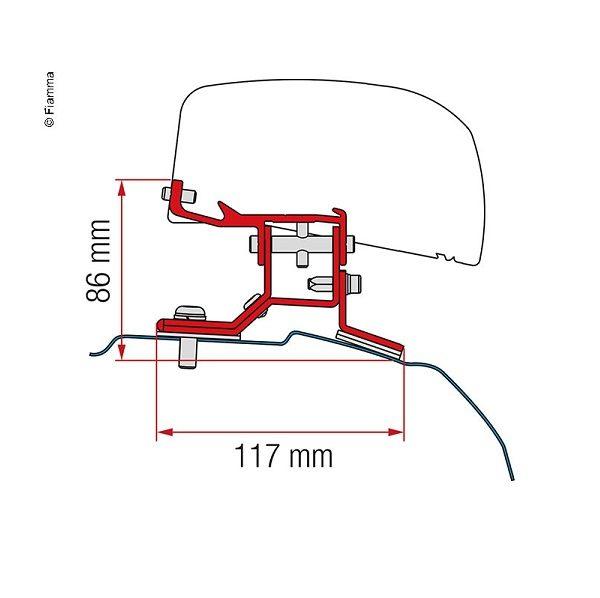 Adaptér pre markízu F40 pre Ford Transit Custom