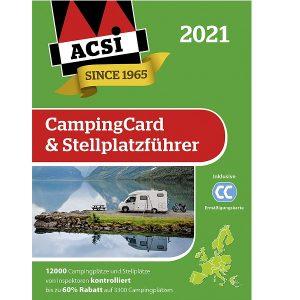 Sprievodca kempingom ACSI Europe 2021 a CampingCard, kempingova zlavova karta