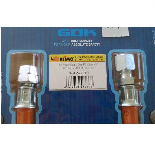 Plynová hadica 40 cm, 8 mm až do -20 °C