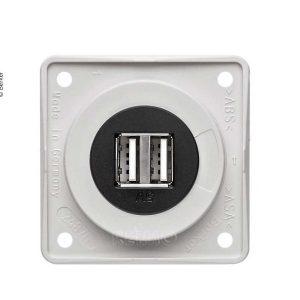 Berker USB nabíjacia zásuvka 12 V dvojitá