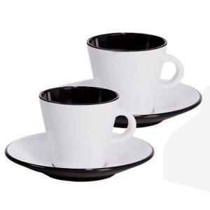 Melamínová súprava šálok na espresso LINEA, 4 kusy