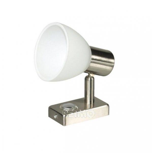 LED bodové 12V, 3W, dotykový spínač, stmievač, nikel, svetlo do karavanu