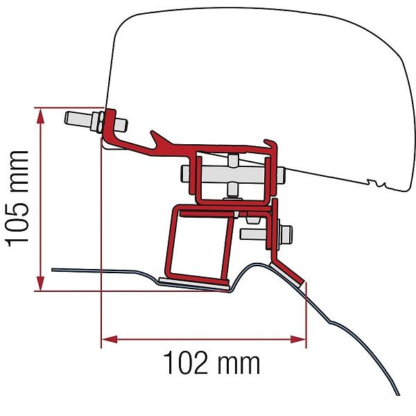 Adaptér pre strešné markízy F40van MB triedy V od roku 2014