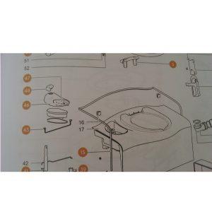 Sada ovládacieho panela pre toaletu Thetford SC400