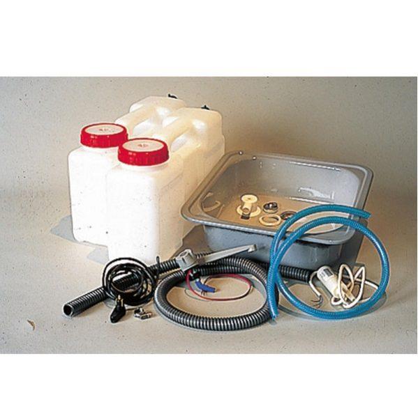 Kanistrový vodný systém pre kuchyňu v karavane, vodný systém pre karavan
