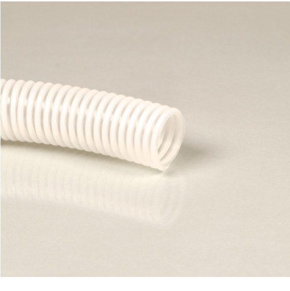 Flexibilná špirálová hadica pre pitnú vodu, priemer 40mm. Ako spojenie medzi plniacim hrdlom a nádržou. Vhodné ako plniaca hadica na pitnú vodu podľa vyhlášky o pitnej vode.