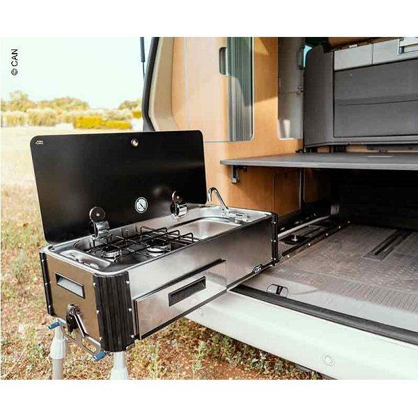 Výsuvný plynový sporák s drezom Can SL1400.LC/LL